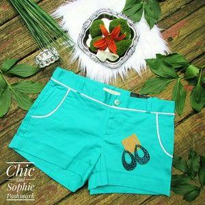 Banana Republic Turquoise Cuffed Style Shorts
